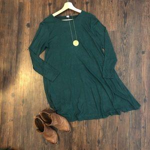 Super Soft Green Sweater Dress